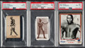 Boxing Cards:General, 1923-1991 Jack Johnson PSA Graded Trio (3).... (Total: 3 items)