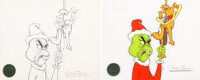 Dr. Seuss' How the Grinch Stole Christmas Grinch and Max Animation Drawing and 1 of 1 Chuck Jones-Signed Cel (MGM, 196...