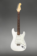 Musical Instruments:Electric Guitars, 1963 Fender Stratocaster Olympic White Solid Body Electric Guitar, Serial #L04224.. ...
