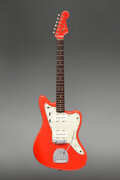 Musical Instruments:Electric Guitars, 1964 Fender Jazzmaster Fiesta Red Solid Body Electric Guitar, Serial #L56856.. ...