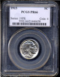 Proof Buffalo Nickels: , 1915 5C PR66 PCGS. This bright Buffalo nickel features ...