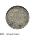 Early Half Dimes: , 1797 H10C 15 Stars AU58 NGC. V-2, LM-1, R.3, the sole ...