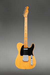 1951 Fender No-caster Butterscotch Blonde Solid Body Electric Guitar, Serial #1761