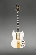 Musical Instruments:Electric Guitars, 1962 Gibson SG Custom White Solid Body Electric Guitar, Serial #44073.. ...