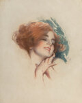 Works on Paper, Harrison Fisher (American, 1875-1934). Ecstasy. Pastel on paper. 19 x 15 inches (48.3 x 38.1 cm). ...