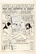"""Original Comic Art:Illustrations, Harry Lucey Archie Giant Series Magazine #140 """"Summertime..."""" House Ad Illustration Original Art (Archie, 1966)...."""