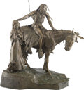 Sculpture, Edward James Fraughton (American, b. 1939). The Last Farewell, 1975. Bronze with brown patina. 36 in...
