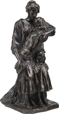 Bessie Potter Vonnoh (American, 1872-1955) Motherhood, conceived 1903 Bronze with brown patina 16-1/2 inches (41.9 cm