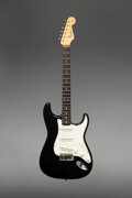 Musical Instruments:Electric Guitars, 1964 Fender Stratocaster Black Solid Body Electric Guitar, Serial #L46900.. ...