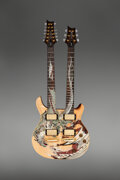 Musical Instruments:Electric Guitars, 2005 Paul Reed Smith (PRS) Dragon Double-Neck Natural Solid Body Electric Guitar, Serial #98712.. ...