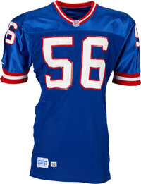 1992 Lawrence Taylor Game Worn New York Giants Jersey Photo Matched to 11/8 vs. the Packers