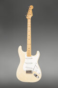 Musical Instruments:Electric Guitars, 1956 Fender Stratocaster Blonde Solid Body Electric Guitar, Serial #14206.. ...