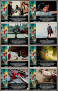 """Movie Posters:Action, Superman the Movie & Other Lot (Warner Bros., 1978). Fine/Very Fine. Lobby Card Sets of 8 (2 Sets) (11"""" X 14""""). Bob Peak Bor... (Total: 16 Items)"""
