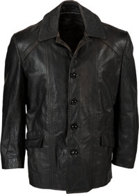 1979 Sylvester Stallone Screen Worn Black Leather Jacket from Rocky II