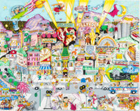 """""""Hollyrock 3-D"""" The Flintstones and Friends Raised-Relief Limited Edition Signed Print #288/450 (Hanna-Barbera..."""