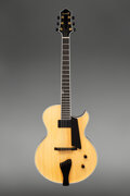 Musical Instruments:Acoustic Guitars, Benedetto Benny Deluxe Natural Semi-Hollow Body Electric Guitar, Serial #S 1821.. ...