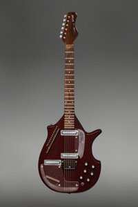 1967 Coral Vincent Bell Sitar Red Solid Body Electric Guitar, Serial #821036