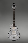 Musical Instruments:Electric Guitars, 2009 Zemaitis MF500 Skull Black Solid Body Electric Guitar, Serial #A212507.. ...