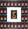 Basketball Cards:Unopened Packs/Display Boxes, 1969 Topps Basketball Wax Box with Twenty-Four Packs, Each Graded by GAI....