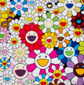 Prints & Multiples, Takashi Murakami (b. 1962). Flowers Blooming in This World and the Land of Nirvana 1, 2013. Offset lithograph in colors ...