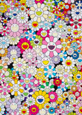 Prints & Multiples, Takashi Murakami (b. 1962). An Homage to Yves Klein Multicolor A, 2012. Offset lithograph in colors on smooth wove paper...