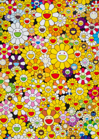 Takashi Murakami (b. 1962) An Homage to Monogold 1960 A, 2012 Offset lithograph in colors on smooth wove paper 29 x 2