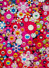 Takashi Murakami (b. 1962) An Homage to Monopink 1960 A, 2012 Offset lithograph is colors on smooth wove paper 29 x 2