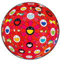 Prints & Multiples, Takashi Murakami (b. 1962). Flowerball (3-D) Red, 2013. Offset lithograph in colors on . 27-7/8 inches (70.7 cm) diamete...