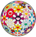Prints & Multiples, Takashi Murakami (b. 1962). Flowerball Sexual Violet No. 1 (3-D), 2013. Offset lithograph in colors on smooth wove paper...