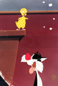 Animation Art:Production Cel, The Sylvester & Tweety Mysteries Tweety Bird and Silvester Production Cel Setup (Warner Bros, c. 1995-2002). ...