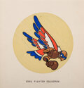"""Animation Art:Production Drawing, WWII Insignia """"23rd Fighter Squadron"""" Original Artwork (Walt Disney, c. 1940s)...."""
