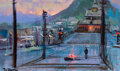 Animation Art:Concept Art, The Island at the Top of the World Concept Art by Peter Ellenshaw (Walt Disney, 1974). ...
