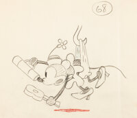 Steamboat Willie Minnie Mouse Animation Drawing (Walt Disney, 1928)