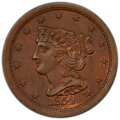 1854 1/2 C MS64 Brown PCGS. PCGS Population: (105/39 and 2/3+). NGC Census: (0/0 and 0/0+). CDN: $430 Whsle. Bid for NGC...