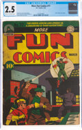 Golden Age (1938-1955):Superhero, More Fun Comics #77 (DC, 1942) CGC GD+ 2.5 Cream to off-white pages....