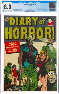 Diary of Horror #1 (Avon, 1952) CGC VF 8.0 Off-white to white pages