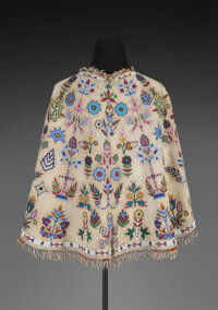 A Sioux Beaded Hide Capelet