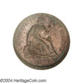 Seated Half Dimes: , 1867 H10C MS66 NGC. Moderately toned in violet and ...