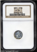 1859 H10C PR64 NGC. A popular issue due to the 'hollow stars' design utilized only on this date and the transitional pat...