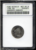 Early Dimes: , 1798 10C Large 8--Corroded, Damaged--ANACS. Fine Details, ...
