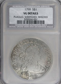 Early Dollars: , 1799 $1 7x6 Stars--Plugged, Scratched, Whizzed--NGC. VG Details.Mintage: 423,515...