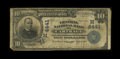 National Bank Notes:Missouri, Carthage, MO - $10 1902 Plain Back Fr. 627 The Central NB Ch. #(M)4441. ...