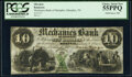 Obsoletes By State:Tennessee, Memphis, TN- Mechanics Bank of Memphis $10 June 6, 1854 PCGS Choice About New 55PPQ.. ...
