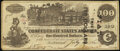 Confederate Notes:1862 Issues, CT39/290A Counterfeit $100 1862 Extremely Fine.. ...