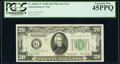 Small Size:Federal Reserve Notes, Fr. 2058-G* $20 1934D Wide Federal Reserve Star Note. PCGS Extremely Fine 45PPQ.. ...