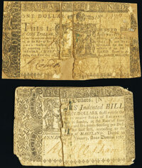 Maryland January 1, 1767 $1 About Good; Maryland January 1, 1767 $8 Good. ... (Total: 2 notes)