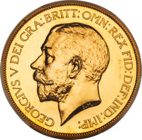 Great Britain: George V gold Proof 5 Pounds 1911 PR66 PCGS
