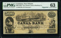 New Orleans, LA- New Orleans Canal and Banking Company $500 18__ G70a Remainder PMG Choice Uncirculated 63