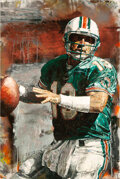 """Football Collectibles:Others, 2001 """"Dan Marino"""" Signed Limited Edition (41/99) Giclee On Canvas by Stephen Holland...."""
