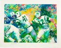 """Football Collectibles:Others, 2007 Joe Namath Signed """"Hand Off - Super Bowl III"""" Limited Edition Serigraph (281/350) by LeRoy Nieman...."""